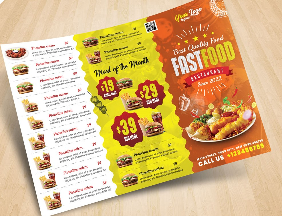 disposable menu printing for restaurants